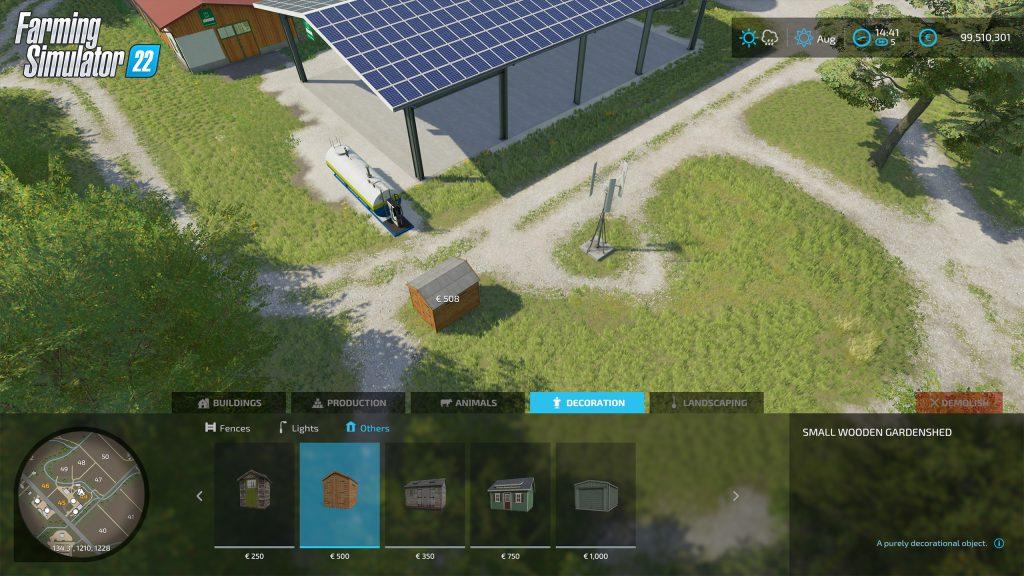 Farming Simulator 22 Build mode